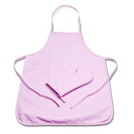 Tablier de cuisine enfant rose