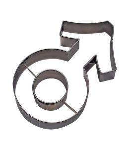 """Emporte-pièce """"symbole masculin"""""""