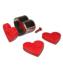 "Emporte-pièce + 3 tampons ""Coeur"""