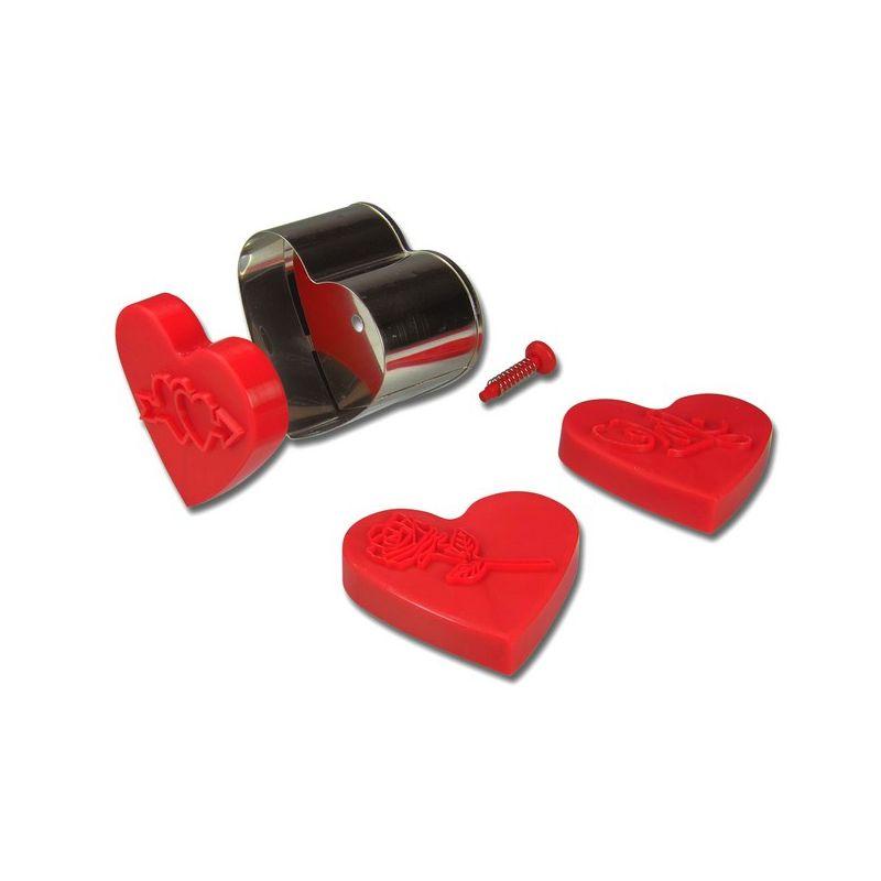 emporte pi ce 3 tampons coeur stadter 6 5 cm. Black Bedroom Furniture Sets. Home Design Ideas