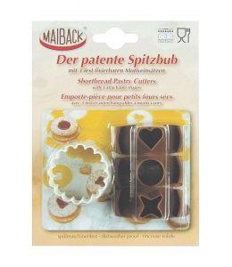 Emporte-pièce pour biscuits Linzer - 3 en 1
