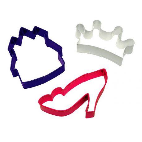 """Set de 3 emporte-pièces """"Princesse"""""""