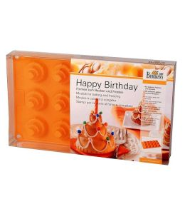 """Moule silicone """"Happy Birthday"""" - 15 cavités"""
