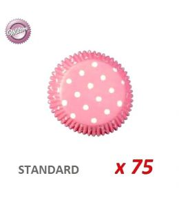 "Caissettes cupcakes ""Polka Dot"" x 75"