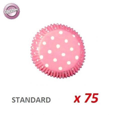 "Caissettes cupcakes ""Polka Dot"" x 75"