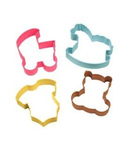 "Set 4 Cookie Cutters ""Baby"""