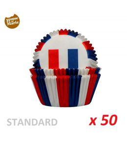 "Caissettes cupcakes ""France"" x 50"