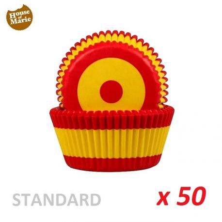 """Caissettes cupcakes """"Espagne"""" x 50"""
