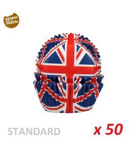 """Caissettes cupcakes """"Royaume Uni"""" x 50"""