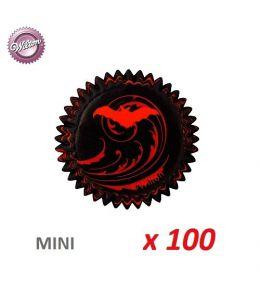"""Mini-caissettes cupcakes """"Vampire"""" x 100"""