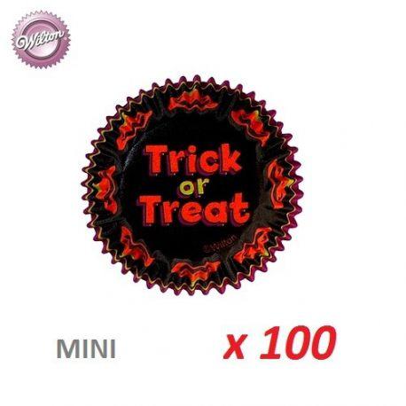 "Mini-caissettes cupcakes ""Trick or Treat"" x 100"