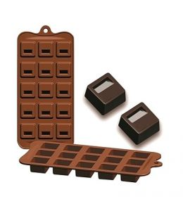 "Moule silicone pour chocolat ""Bloq"""