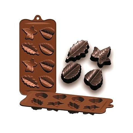 """Silicone Chocolate Mold """"Hojas"""""""