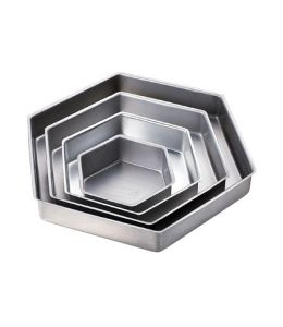 Set de 4 moules hexagonaux