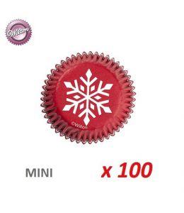 "Mini-caissettes cupcakes ""Flocon"" x 100"