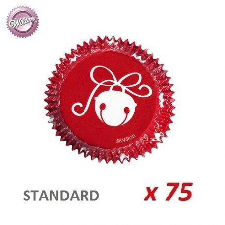 """Caissettes cupcakes """"Boule de Noël"""" x 75"""