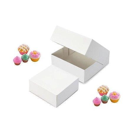Caja blanca para tartas