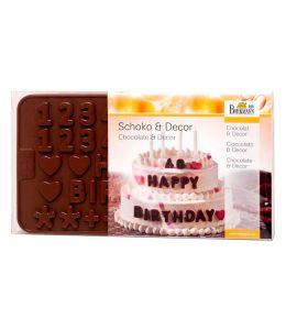 """Molde silicona para chocolates """"Letras y Números"""" - BIRKMANN"""
