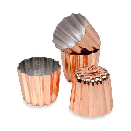 Moule à cannelé en cuivre