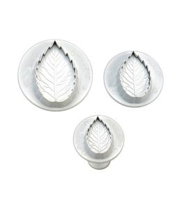 3 Plunger Cutters - Rose Leaf