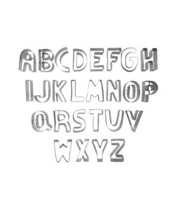"Cookie Cutters ""Alphabet"""
