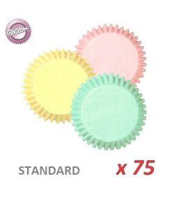"""Cápsulas cupcakes """"Colores Pastel"""" x 75"""