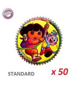 "Cápsulas cupcakes ""Dora la Exploradora"" x 50"