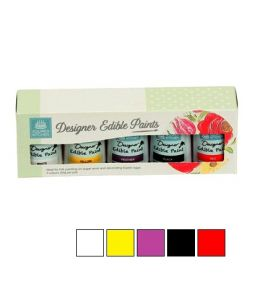 Edible Paint Kit - 5 COLOURS