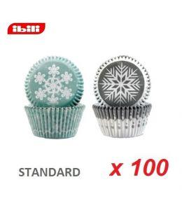 """Caissettes cupcakes """"Flocon"""" x 100"""