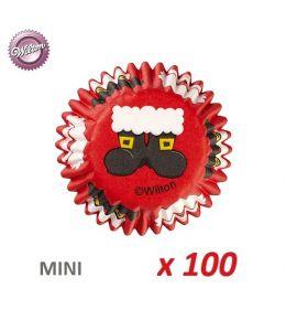 "Mini Baking Cases ""Santa Claus"" x 100"