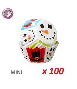 "Mini Baking Cases ""Snowman""..."