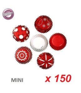 "Mini Baking Cases ""Christmas"" x 150"