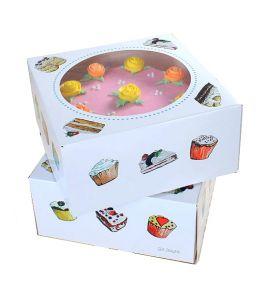 Square Window Cake Box x 2