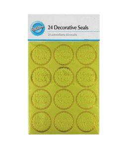 "Decorative Seals ""Home Made"" x 24 - WILTON"