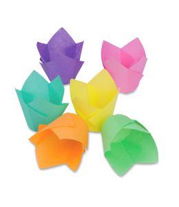 """Caissette """"tulipe"""" colorée..."""