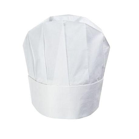 Toque de chef jetable x 10 mod le arrondi blanc 23cm - Image toque cuisinier ...