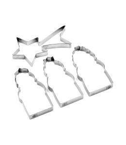 "Set 4 Cookie Cutters ""Three..."