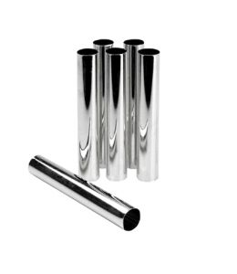 Set of 6 Cream Roll Tubes