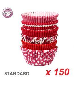 """Caissettes cupcakes """"St Valentin"""" x 150"""