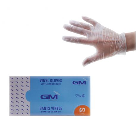 Disposable Vinyl Gloves X 100