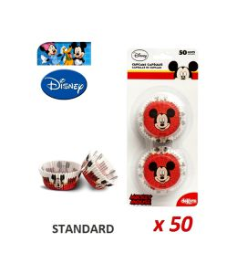 """Cápsulas cupcakes """"Mickey"""" x 50"""