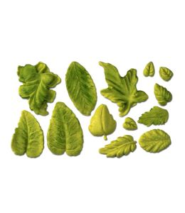 """Moule de modelage - """"Assortiment de feuilles"""""""