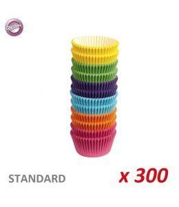 "Caissettes cupcakes ""Couleurs assorties"" x 300"