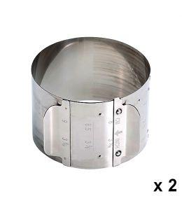 Petit cercle à pâtisserie extensible x 2
