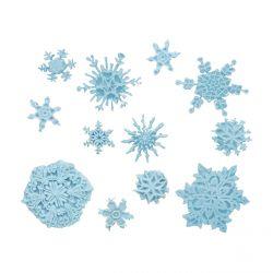 """Moule de modelage - """"Assortiment de flocons de neige"""""""