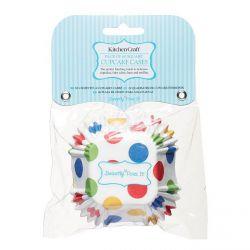 Cápsulas cupcakes cuadradas y blancas x 50