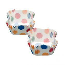 Caissettes cupcakes carrées à pois x 60