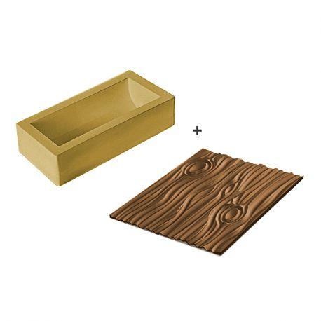 "Moule silicone ""Bûche de Noël"" - Magic Wood"