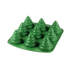 """Molde silicona """"árbol de Navidad"""" - 9 cavidades"""