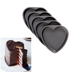Set de 5 moules ronds pour gâteau à étages COEUR - WILTON